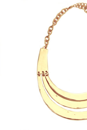 TRIPPLE GOLD PLATED NECKLACE - Haute & Rebellious