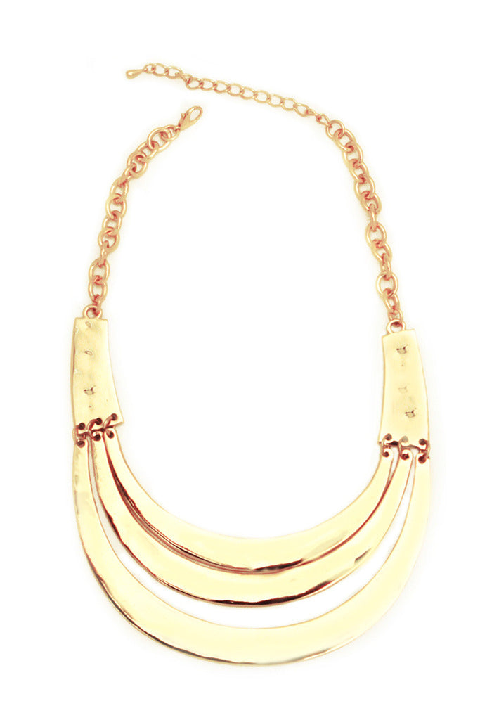 TRIPPLE GOLD PLATED NECKLACE