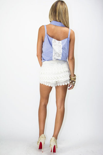 MARI LACE SHORTS - Cream - Haute & Rebellious