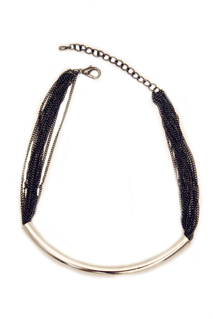 PAULEEN CHAIN NECKLACE - Silver