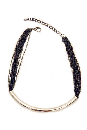 PAULEEN CHAIN NECKLACE - Silver - Haute & Rebellious