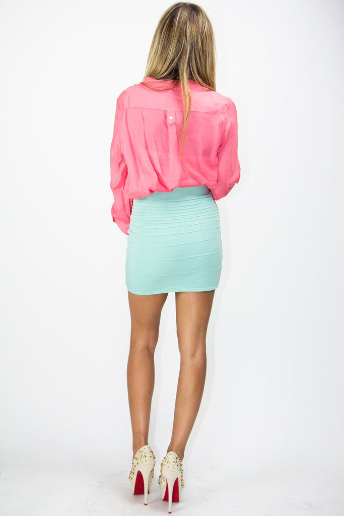 BASIC DRESS SHIRT - Coral