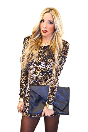 VELVET LEOPARD PRINT DRESS - Haute & Rebellious