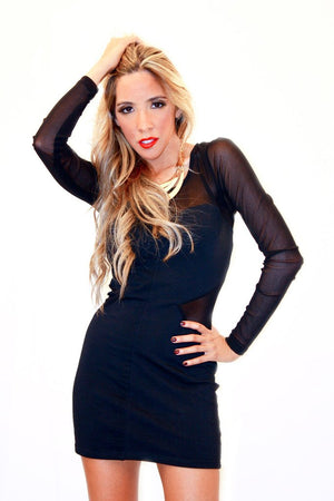 MESH BLACK DRESS - Haute & Rebellious