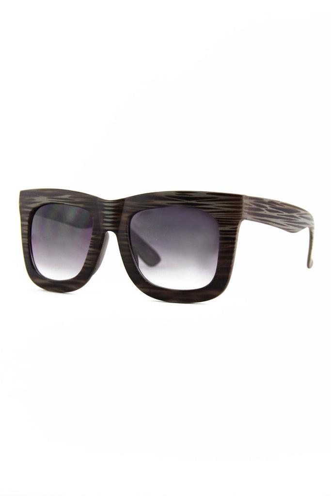 THICK FRAME SUNGLASSES - Gray