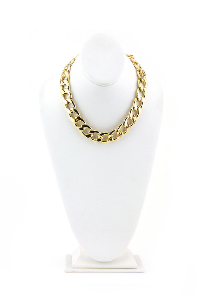 HEAVY LARGE CHAIN LINK NECKLACE