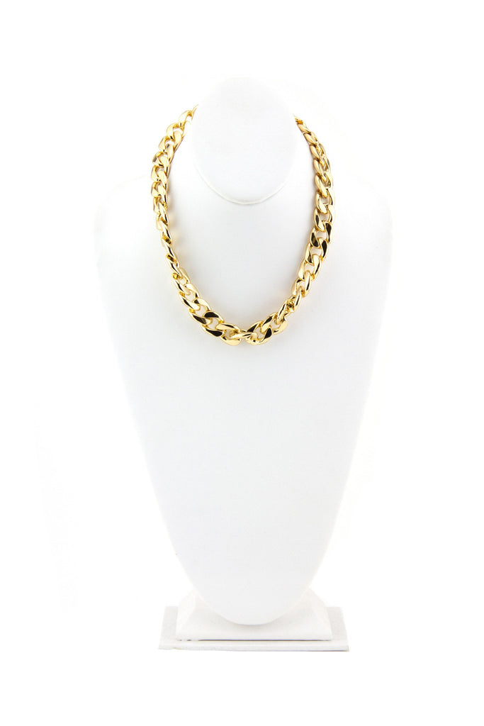 HEAVY TIGHT CHAIN LINK NECKLACE