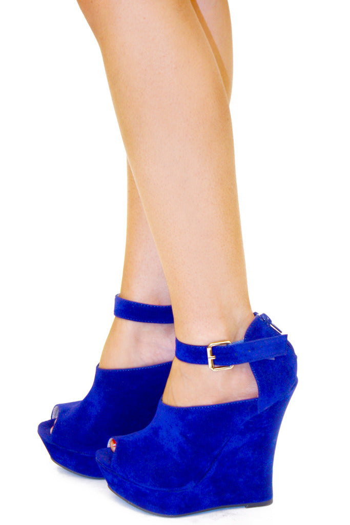 ROYAL BLUE WEDGE