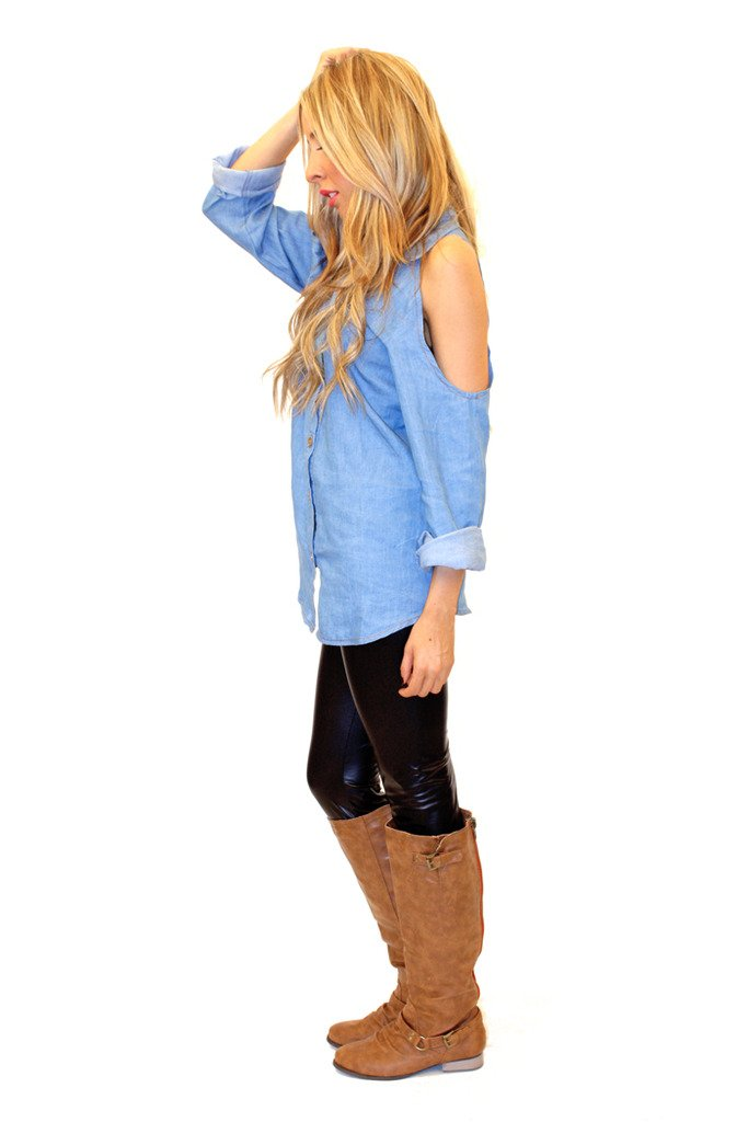 FLAT CAMEL BOOTS - Brown