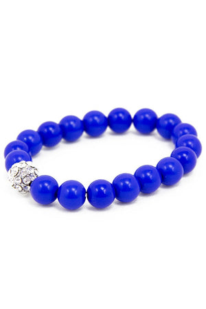 ELECTRIC BLUE COLORED SPHERES BRACELET - Haute & Rebellious