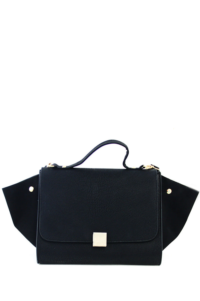 TRAPEZE BAG WITH STRAP - Black