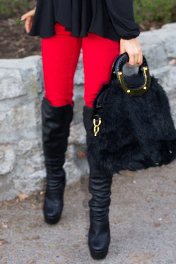 RED SKINNY JEANS - Haute & Rebellious