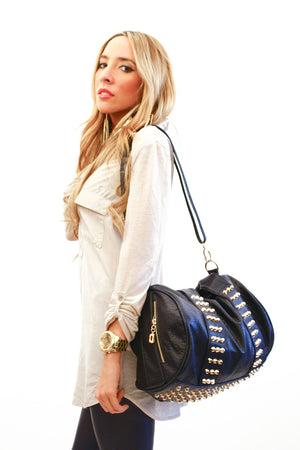 STUDDED BAG - Gold - Haute & Rebellious