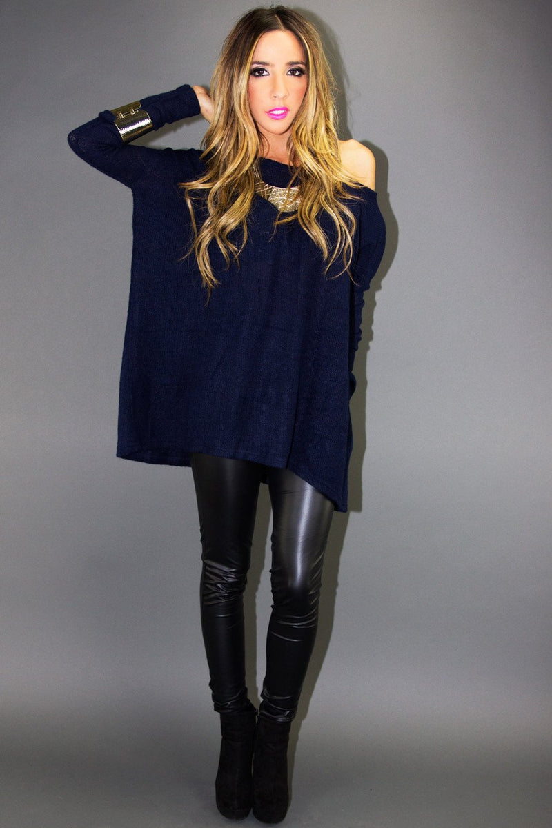 ALEXANDER SWEATER - Deep Navy - Haute & Rebellious