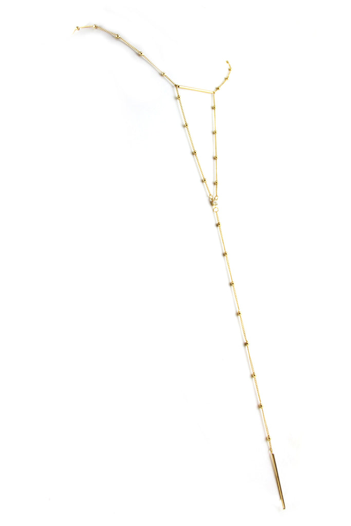 Thin Gold Chain Layering Necklace