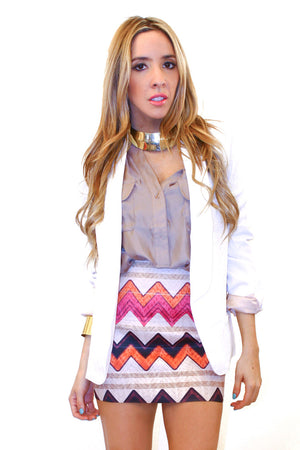 ZIGZAG TRIBAL SKIRT - Haute & Rebellious