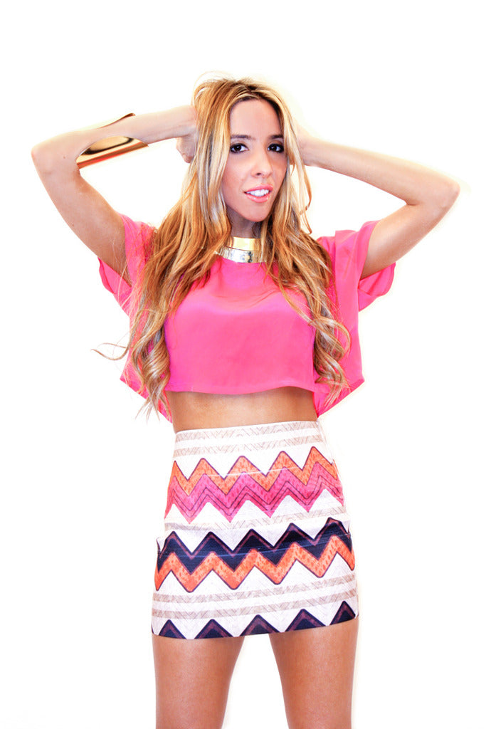 ZIGZAG TRIBAL SKIRT