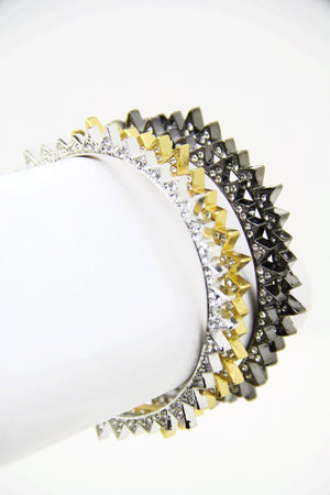 CRYSTALS SPIKED BANGLES - Haute & Rebellious