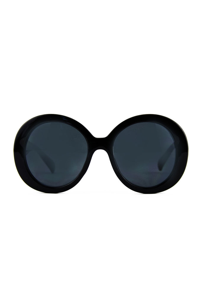 OVERSIZE OVAL FRAME SUNGLASSES - Black - Haute & Rebellious