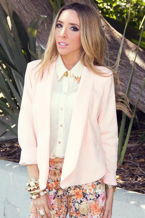JANE SOFT COLLAR BLAZER - Haute & Rebellious