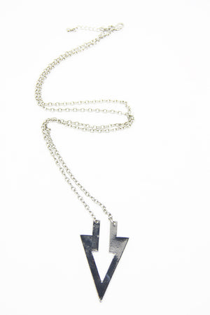 POINT THE WAY NECKLACE - Silver - Haute & Rebellious