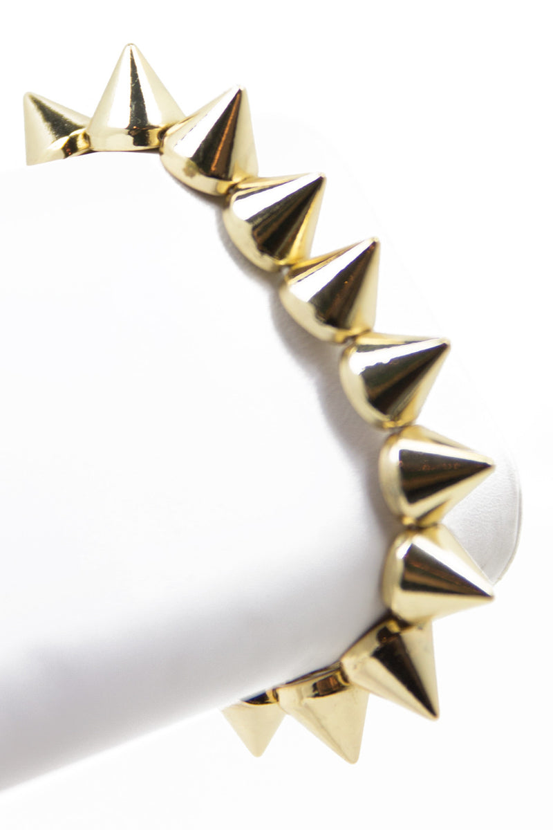 SPIKE BANGLE - Gold - Haute & Rebellious