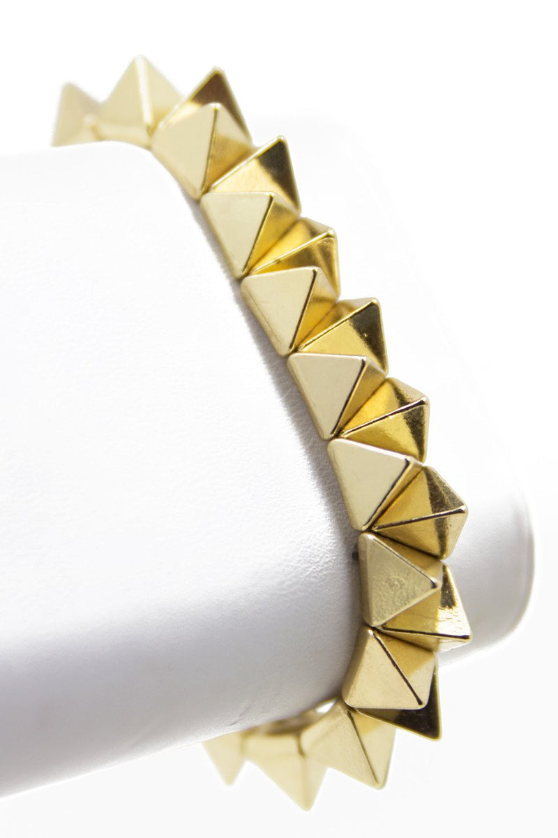 ABSTRACT STUD BANGLE - Gold - Haute & Rebellious