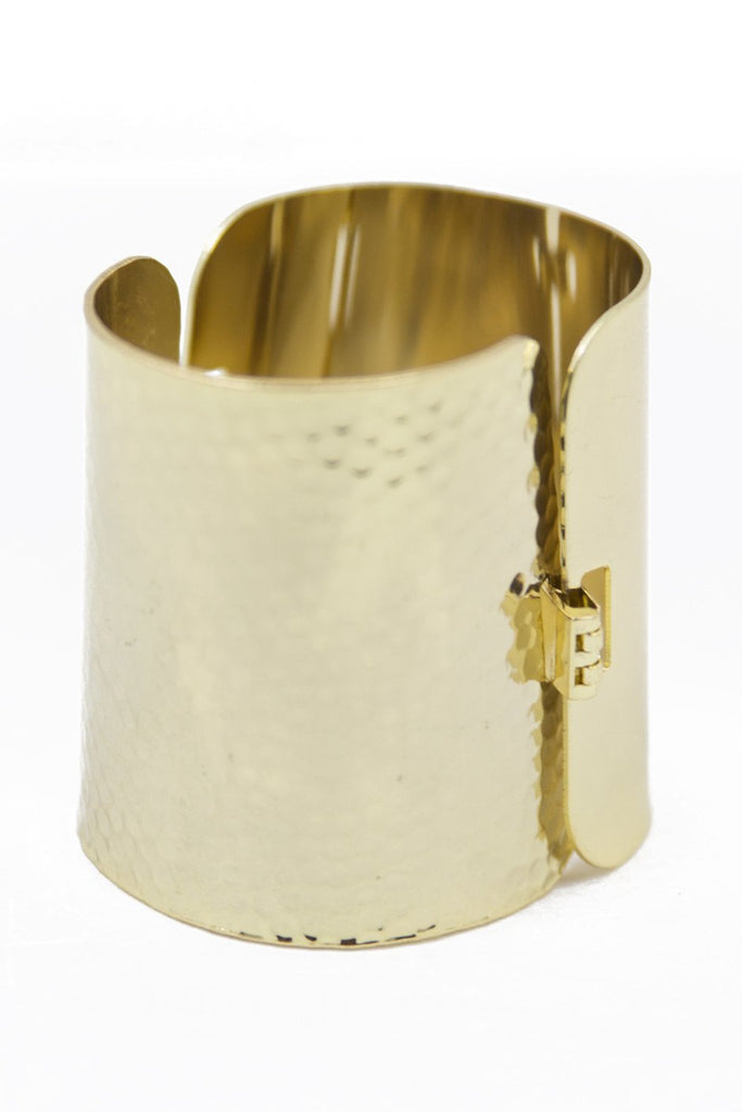 GOLD SHIELD CUFF BRACELET - Haute & Rebellious