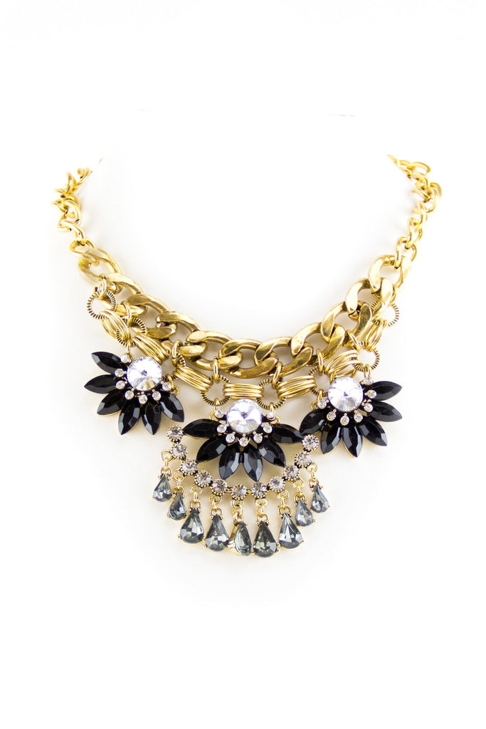 Chain Statement Necklace - Gold - Haute & Rebellious