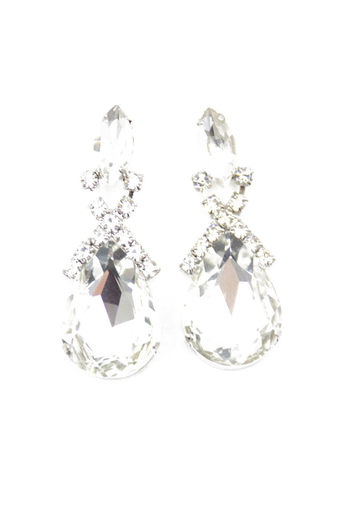 LARGE CRYSTAL EARRINGS