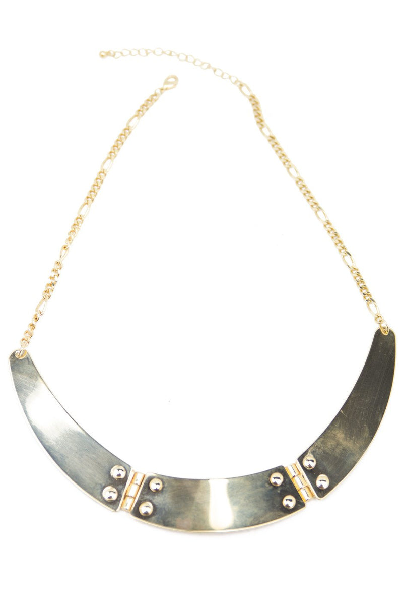 GOLD PLATES NECKLACE - Haute & Rebellious