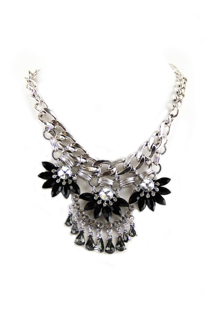 Chain Statement Necklace - Silver