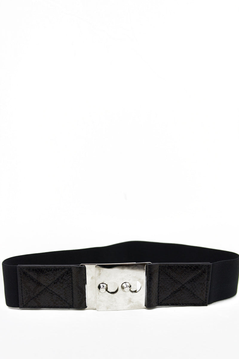 SILVER PLATE BELT - Black - Haute & Rebellious