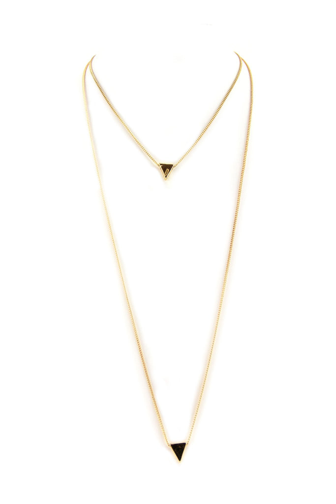 Double Chain Arrow Layering Necklace - Haute & Rebellious
