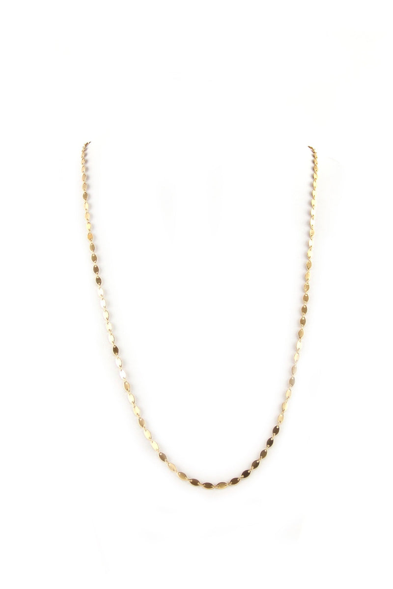 Emma Gold Thin Layering Necklace - Haute & Rebellious