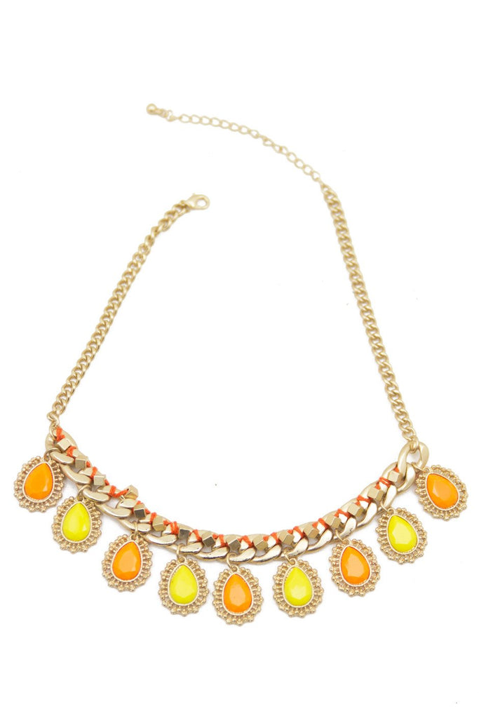 ABHA STONES NECKLACE - Gold