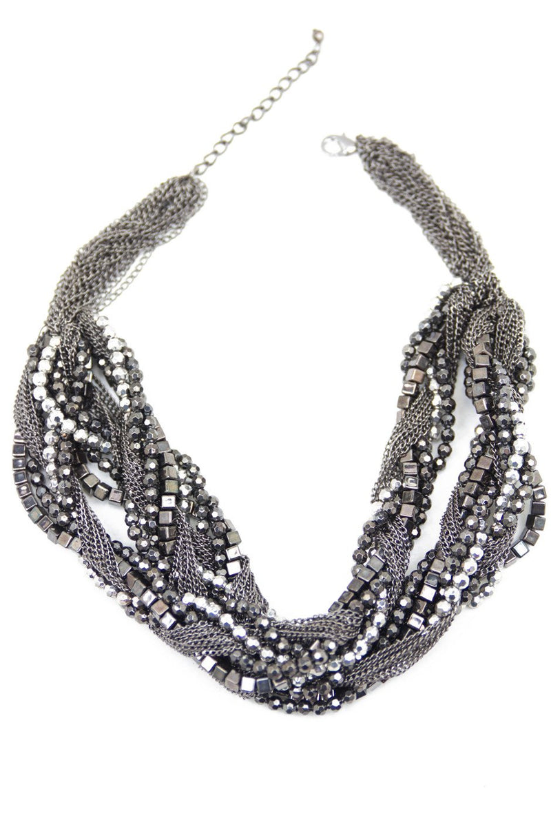CUBES & SPHERES ROPE NECKLACE - Haute & Rebellious