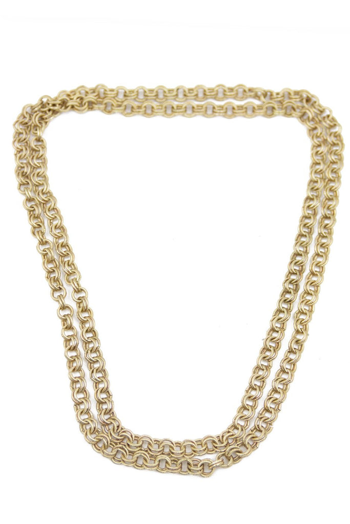DEUCES CHAIN NECKLACE - Gold