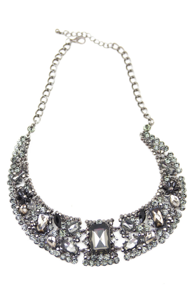 SMOKY CRYSTALS NECKLACE