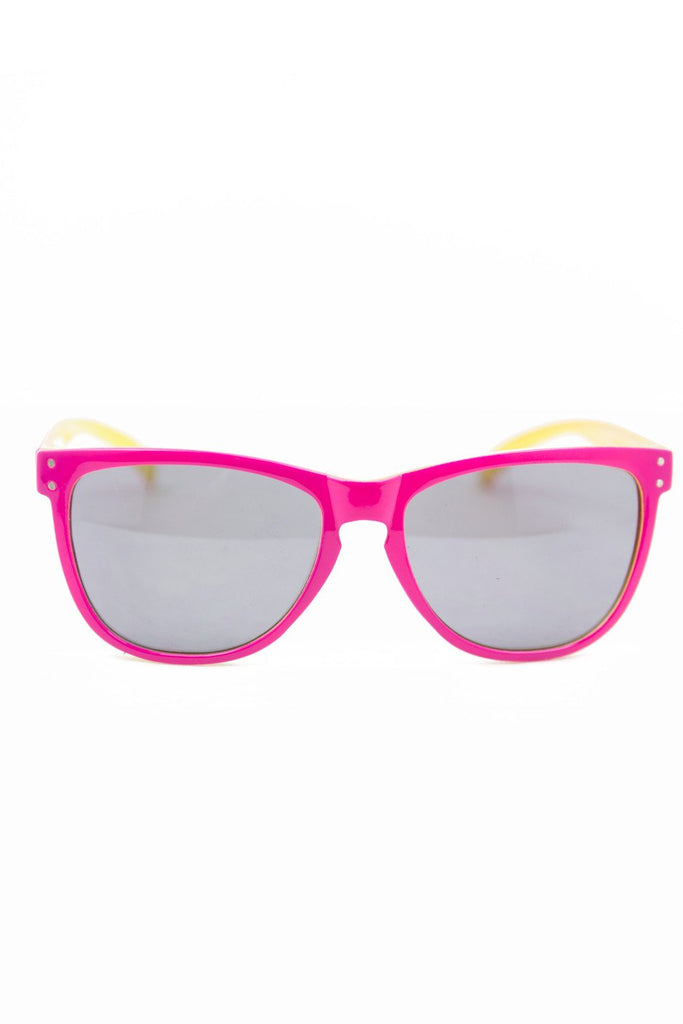 DARK PINK & YELLOW SUNGLASSES (Final Sale)