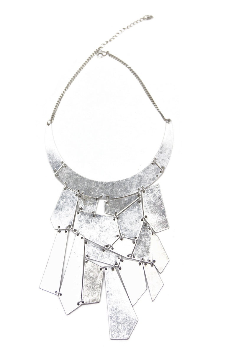 POLY SHAPES NECKLACE - Aluminum Silver - Haute & Rebellious