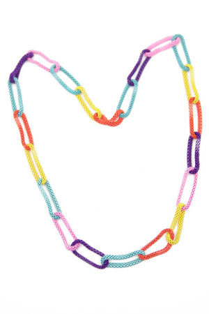 COLORED LINK NECKLACE - Haute & Rebellious