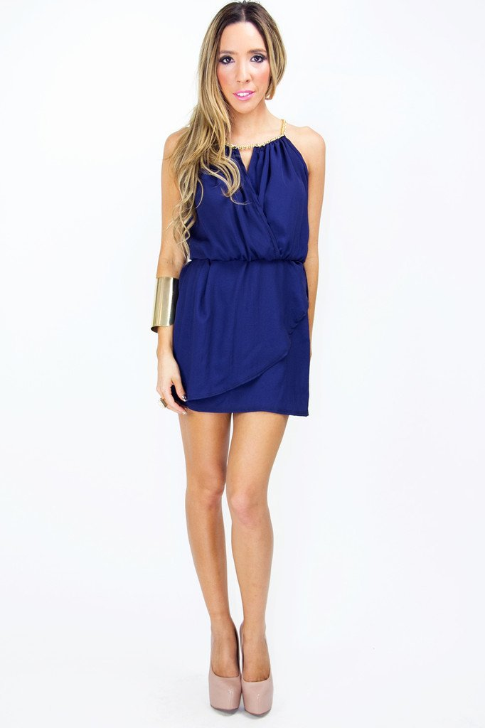 NEVAEH COCKTAIL DRESS - Deep Blue