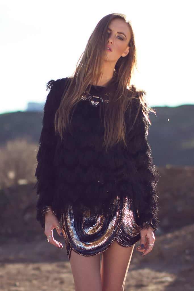 Lacie Tulip Sequin Skirt