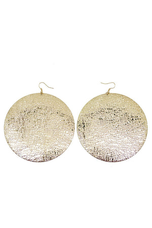 GOLD GONG EARRINGS - Haute & Rebellious