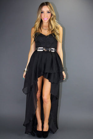 ASYMMETRICAL RUFFLE DRESS - Haute & Rebellious