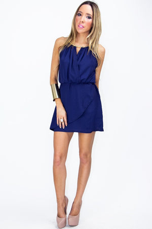 NEVAEH COCKTAIL DRESS - Deep Blue - Haute & Rebellious