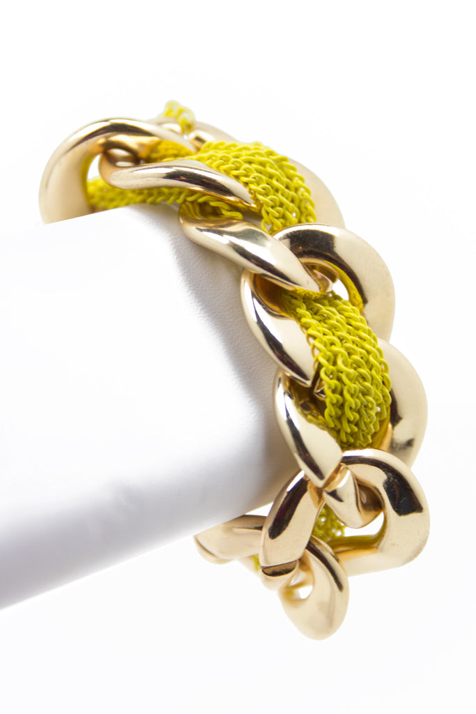 ROPE & LINK BRACELET - Yellow & Gold