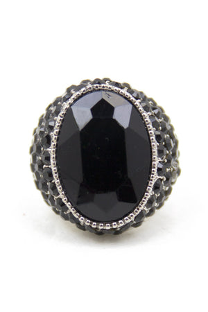 BLACK STONE RING - Haute & Rebellious