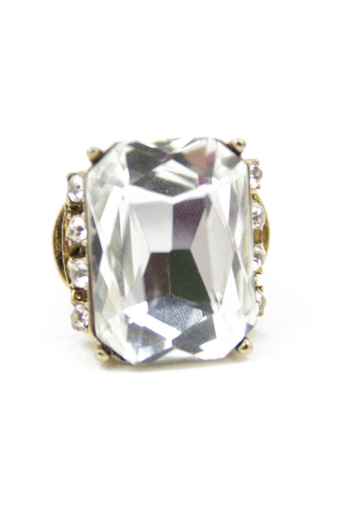 LARGE CRYSTAL STONE RING - Haute & Rebellious